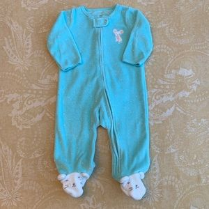 Carter's 6M Mouse Zip-Up Terry Sleep & Play Footed